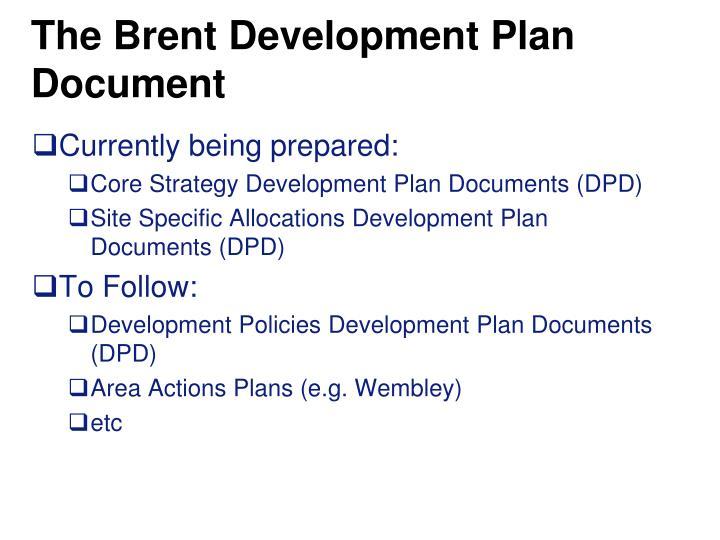 The Brent Development Plan Document