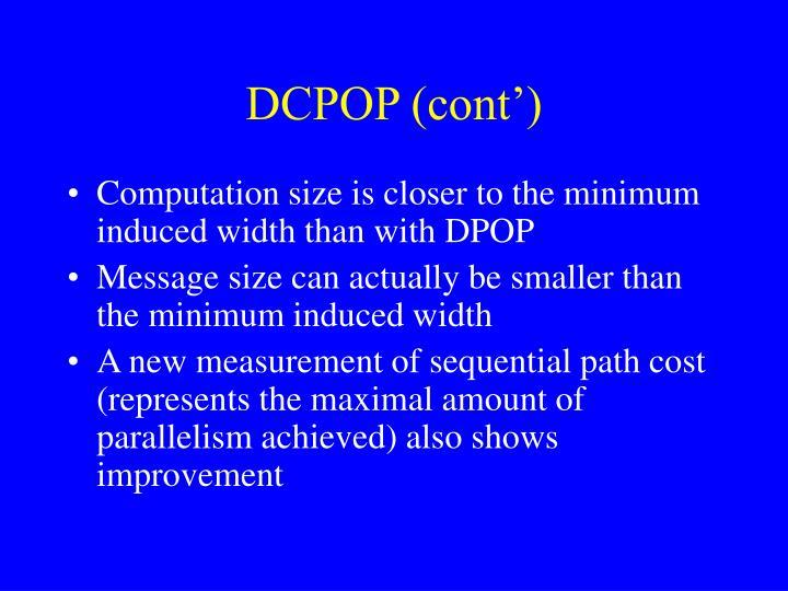 DCPOP (cont')