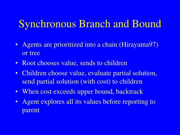Synchronous Branch and Bound
