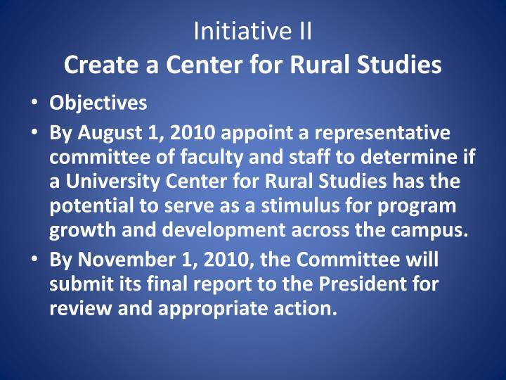 Initiative II