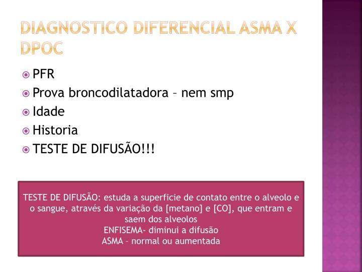 Diagnostico diferencial asma x