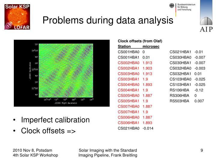 data analysis problems