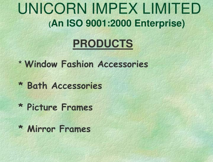 UNICORN IMPEX LIMITED