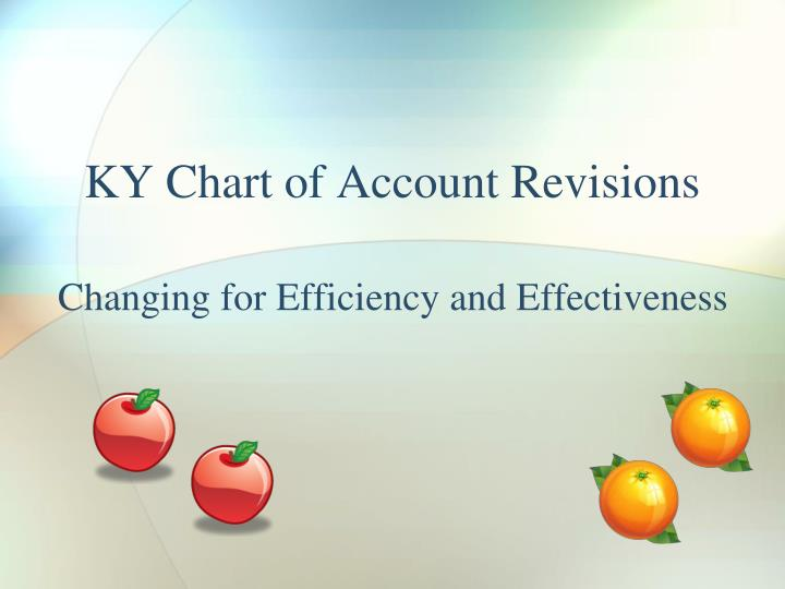 Ky chart of account revisions