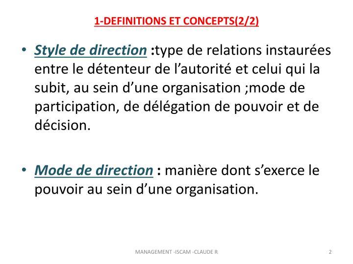 1-DEFINITIONS ET CONCEPTS(2/2)