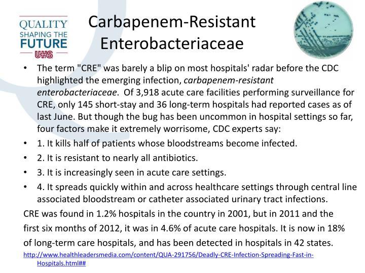 Carbapenem-Resistant