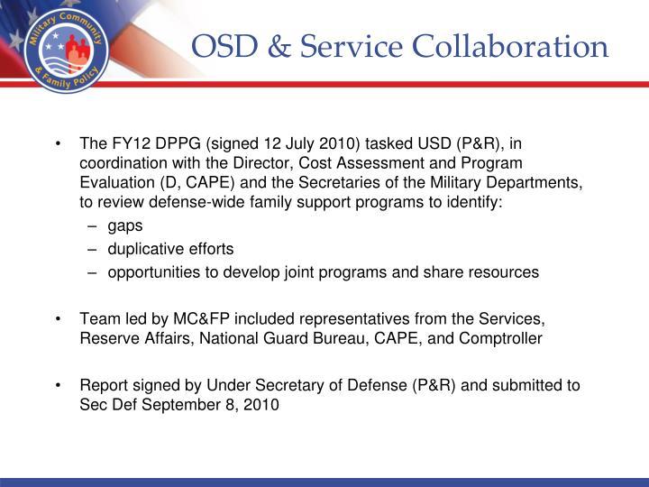OSD & Service Collaboration