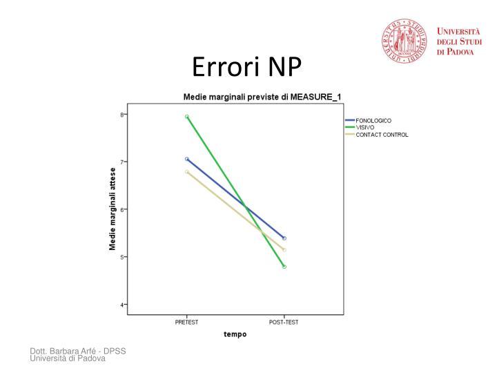 Errori NP