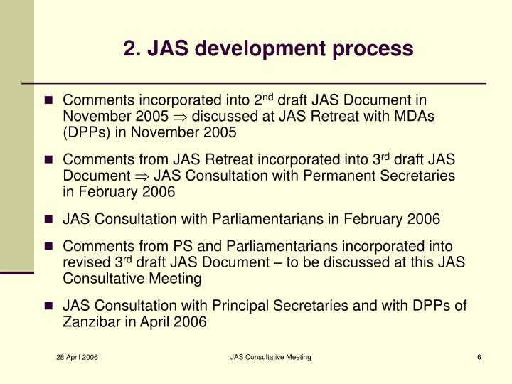 2. JAS development process