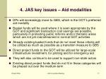 4 jas key issues aid modalities
