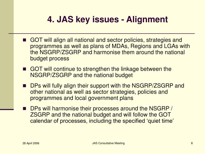 4. JAS key issues - Alignment