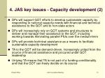 4 jas key issues capacity development 2
