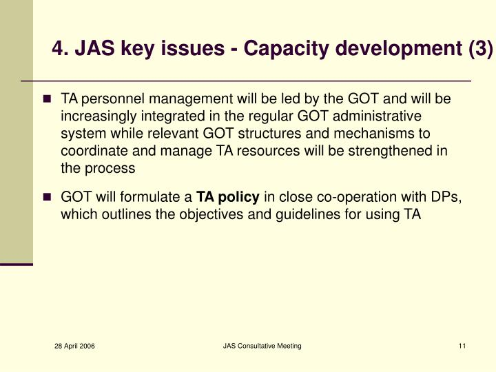 4. JAS key issues - Capacity development (3)