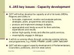 4 jas key issues capacity development