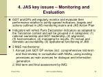 4 jas key issues monitoring and evaluation