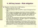 4 jas key issues risk mitigation