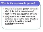 who is the reasonable person