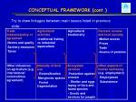 conceptual framework cont