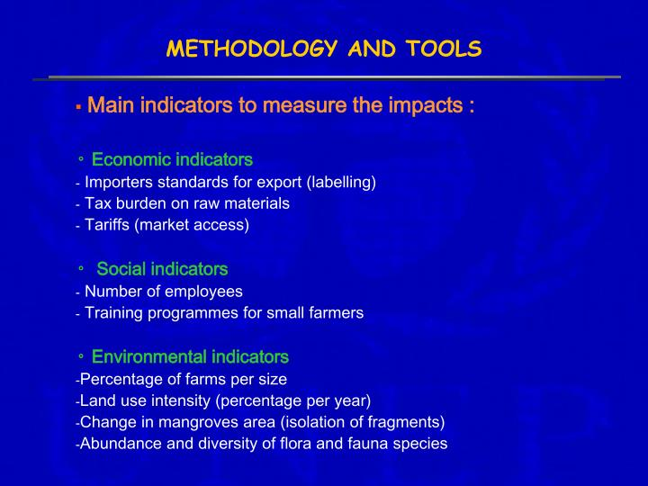 METHODOLOGY AND TOOLS