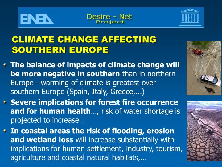 CLIMATE CHANGE AFFECTING
