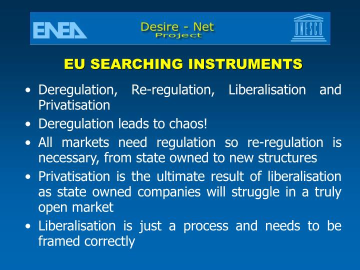 EU SEARCHING INSTRUMENTS