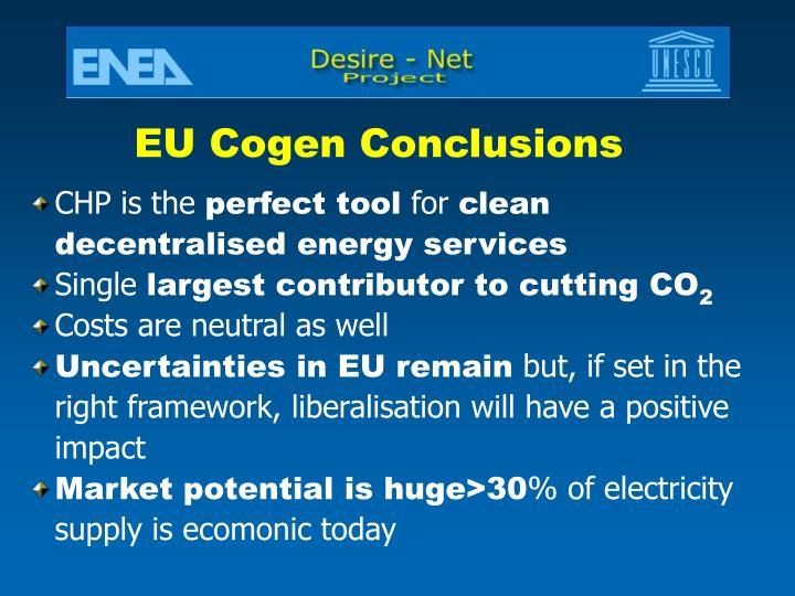 EU Cogen Conclusions