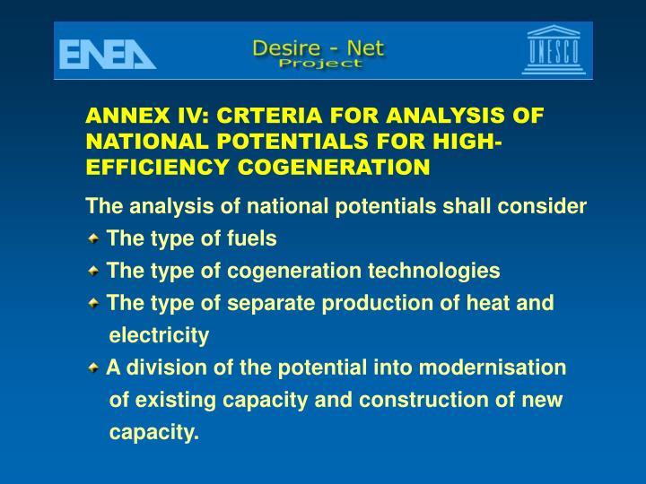 ANNEX IV: