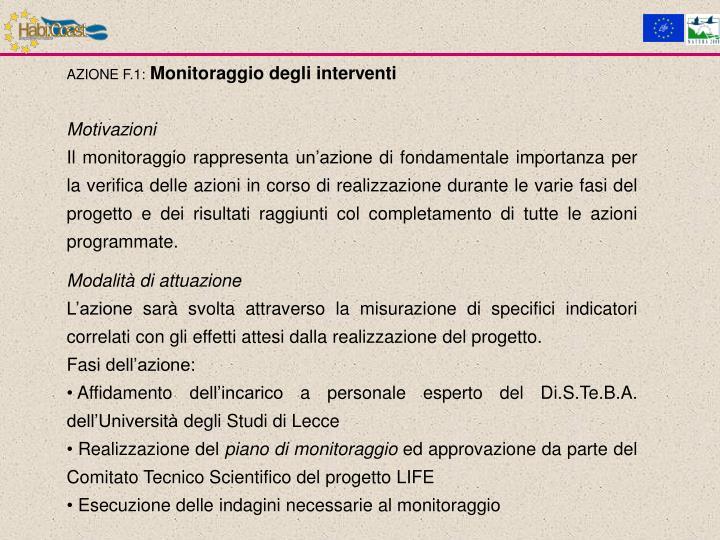 AZIONE F.1: