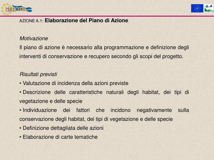 AZIONE A.1: