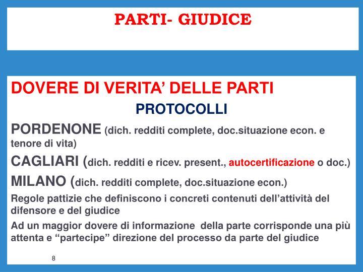 PARTI- GIUDICE