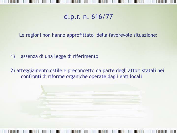 d.p.r. n. 616/77