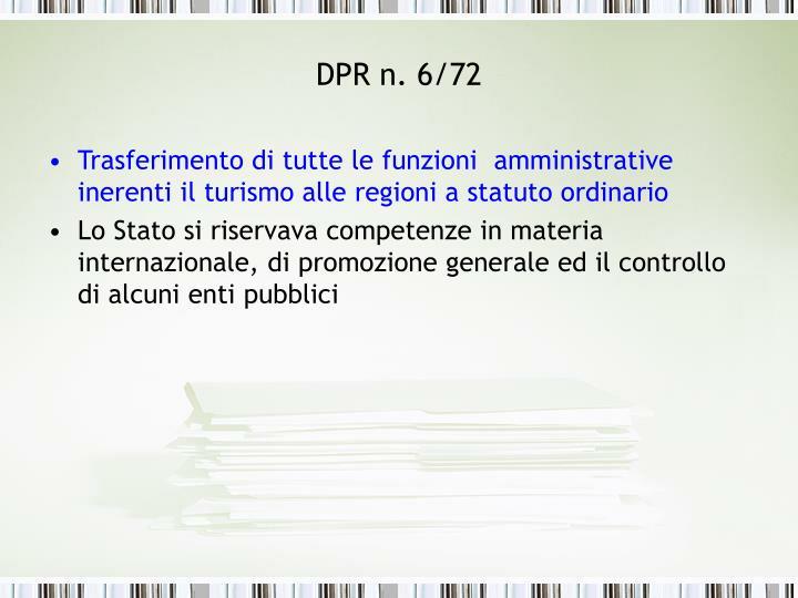 DPR n. 6/72