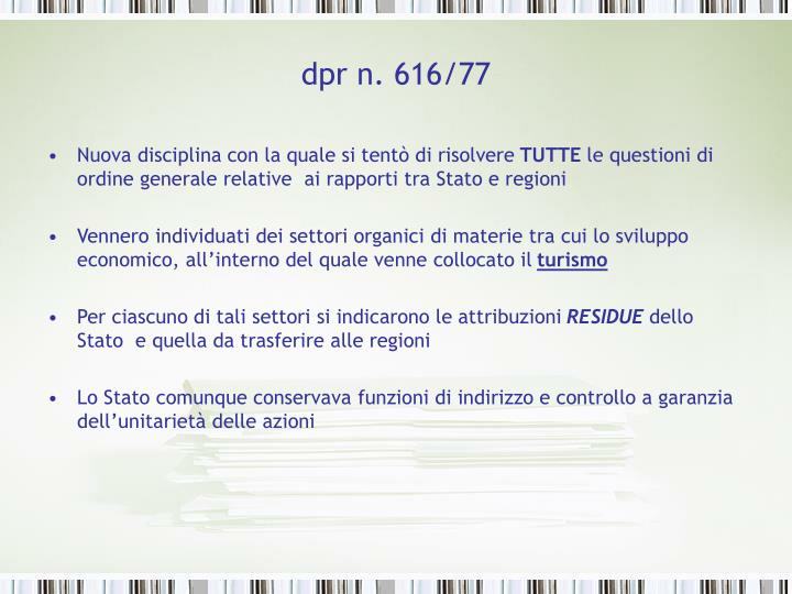 dpr n. 616/77