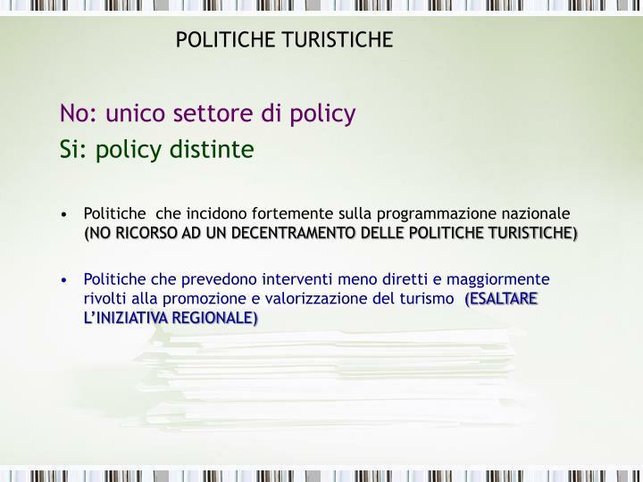 POLITICHE TURISTICHE
