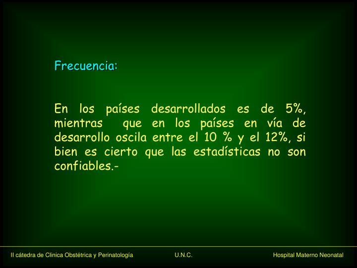 Frecuencia: