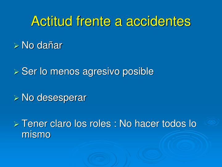 Actitud frente a accidentes