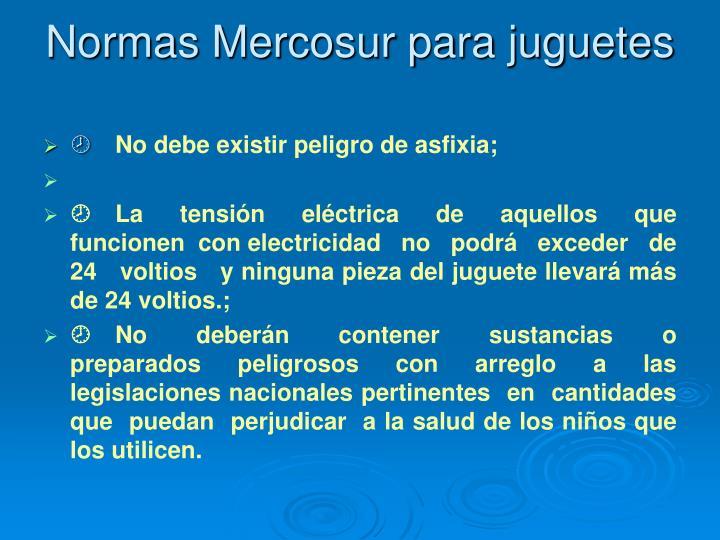 Normas Mercosur para juguetes