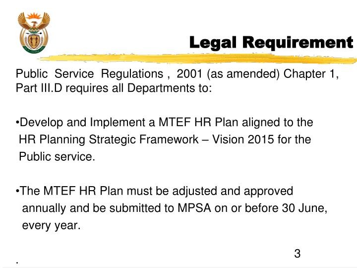Legal Requirement