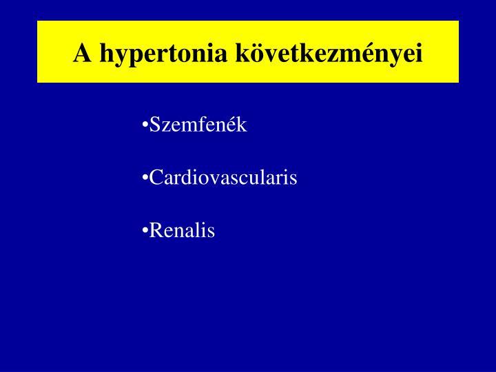 A hypertonia következményei