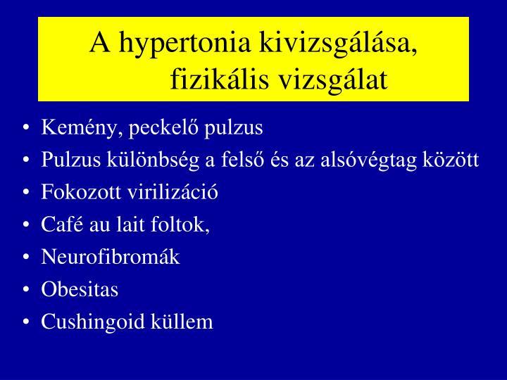 A hypertonia kivizsgálása,