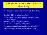 abpm ambulatory blood pressure monitoring
