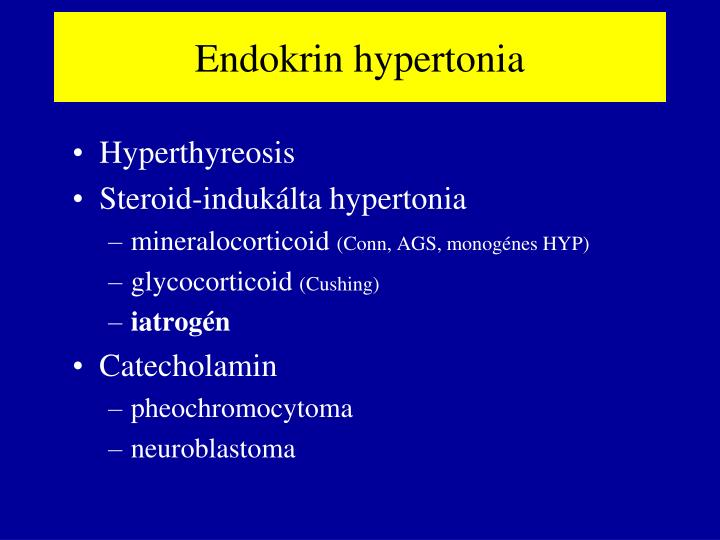 Endokrin hypertonia