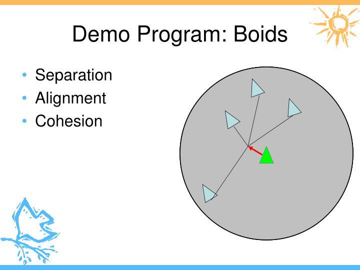 Demo Program: Boids