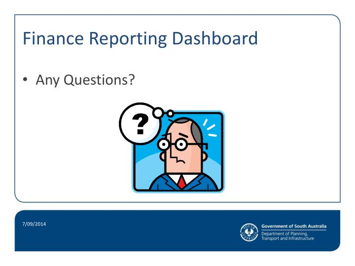 Finance Reporting Dashboard