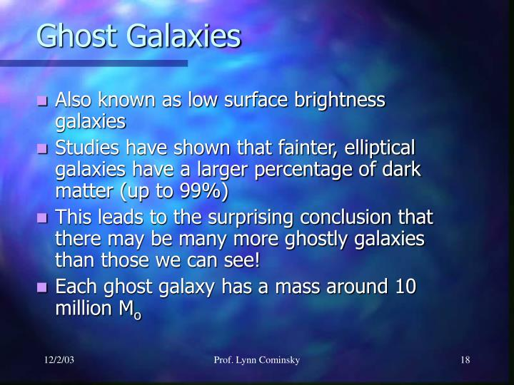 Ghost Galaxies