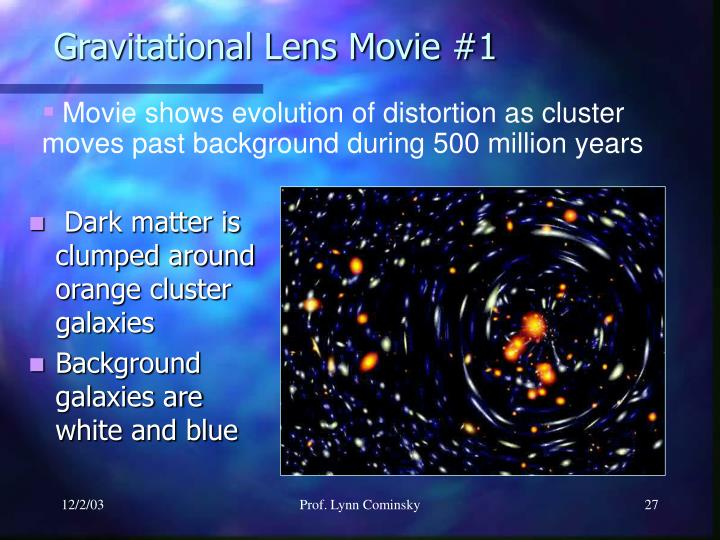 Gravitational Lens Movie #1
