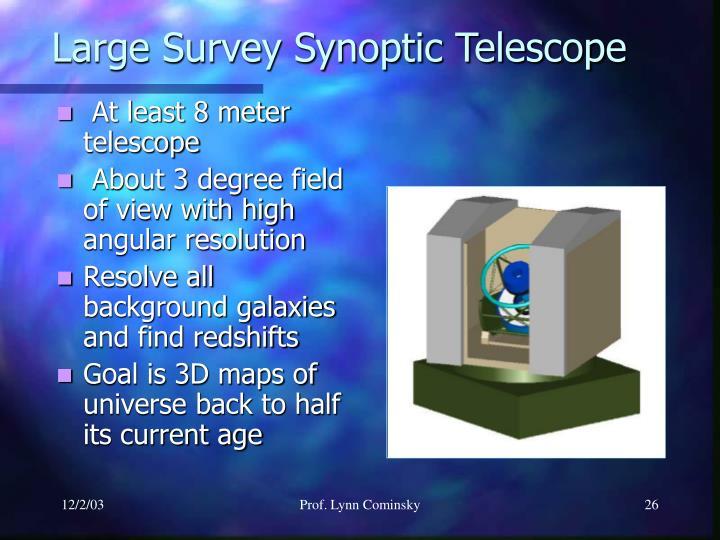 Large Survey Synoptic Telescope
