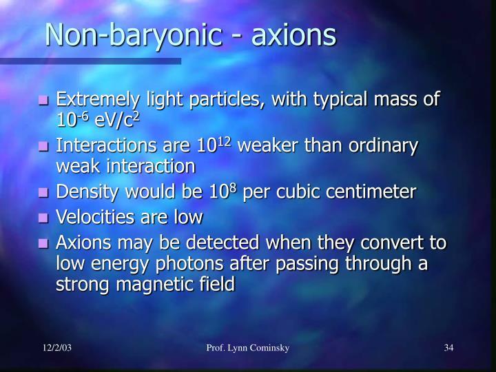 Non-baryonic - axions