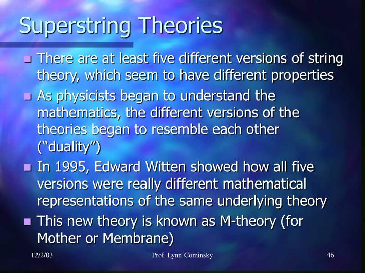 Superstring Theories