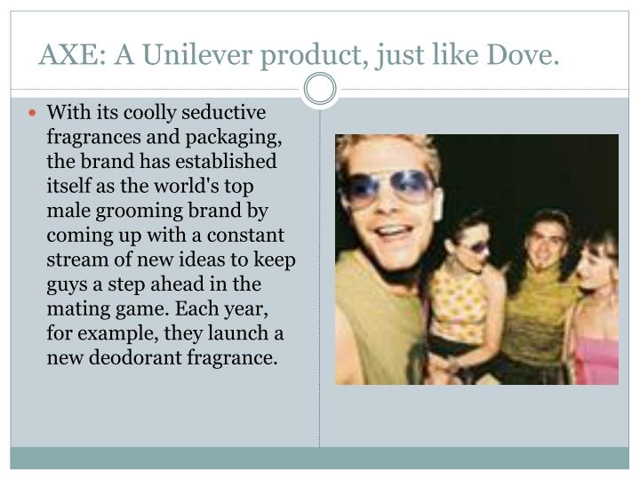 AXE: A Unilever product, just like Dove.